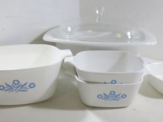 5 CORNING WARE PIECES   1 lID