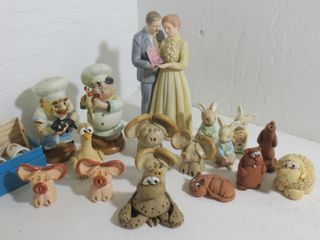 ASSORTED ANIMAl FIGURES   40TH CAKE TOPPER