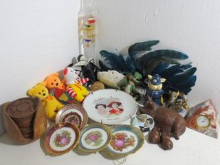 GlASS   WATER THERMOMETER MASK ANIMAl FIGURES