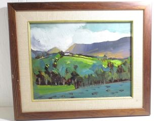 FRAMED OIl ON BOARD SIGNED lOWER RIGHT