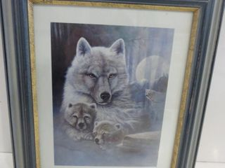 WOlF PRINT   SIGNED lOWER RIGHT