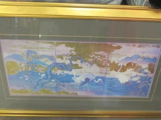 ASIAN GOlD lEAF ART   40 X 25 H WITH FRAME