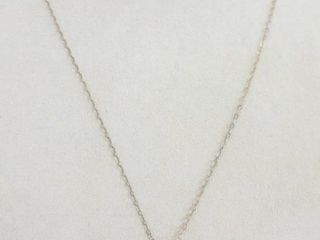 18  STERlING CHAIN WITH PENDANT