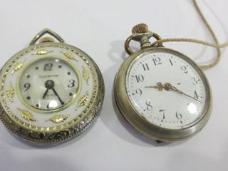 lUCERNE POCKET WATCH WITH MOTHER OF PEARl FACE