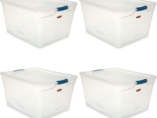 Rubbermaid latching Storage Boxes w  lids   4 Pack