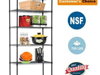 Steel 5 Tier Wire Shelving Unit