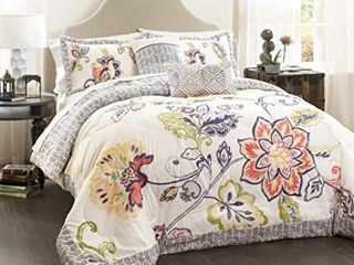 lush Decor Aster Quilted Comforter Set   King