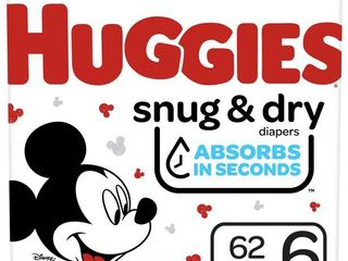 Huggies Snug  amp  Dry   Size 6   124 Pack