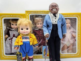 5  Effanbee Dolls   louis Armstrong  Satchmo  Bobbsey Twins Flossie   more