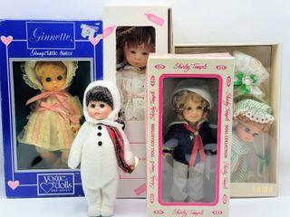 5  Vintage Dolls   Vogue  IDEAl  les creations GAMA  Good Kruger Dolls with Original Boxes