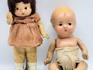 Vtg Antique Composition Doll   Composition Baby Doll Infant