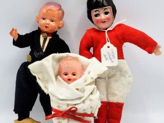 1950s Celluloid Football Player Doll  Celluloid Plastic Dutch Boy Doll   Vintage  Blue Box  baby doll