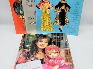 Marie Osmond 15 Years of Friends Doll Book   3  1970s Paper Doll Books   Marie Osmond Doll Necklace