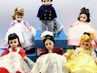 Madame Alexander Complete Set of 6   little Women Dolls    3  with original boxes