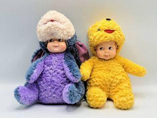 2  Madame Alexander Peekaboo Babies   Winnie The Pooh   Eeyore