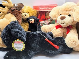 7  Piece lot   Madame Alexander The Well Dressed Bears Red Riding Hood in Box  Melissa   Doug Bear   More