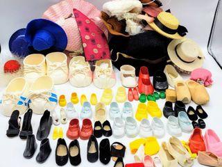 Huge lot of Vintage Doll Shoes   Hats