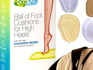 Dooxas  Ball Of Foot Cushions For High Heels  With The New Innovative Design For Maximum Support   4 Pack  Soft Abs Durable