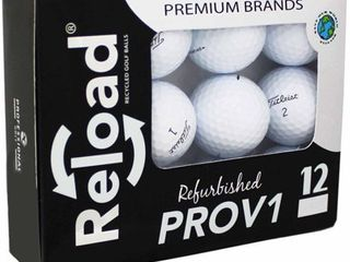 Reload Recycled Golf Balls  12 Pack  Titleist PROV1 Refurbished Golf Balls