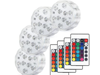 Kohree Swimming Pool lights W  Remote Control 10 leds 4 Pack