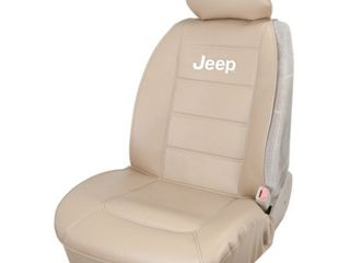 Plasticolor 008581R06 Jeep Elite Tan Sideless Seat Cover