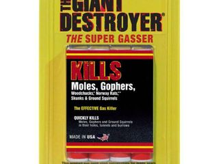 Atlas Chemical 00333 Giant Destroyer Gas Bomb Pack of 2 4packs  8 total
