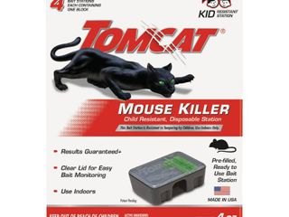 TomCat Mouse Killer II Disposable   4ct