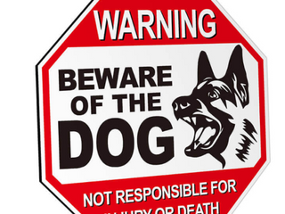 Anley  Beware Of The Dog   Set of 2