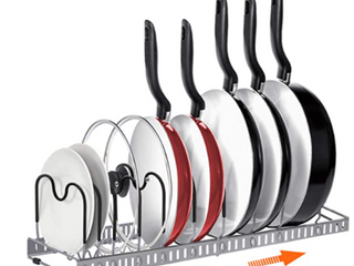 AHNR Pot Rack Organizer 10 Adjustable Compartments