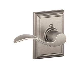 Schlage F170ACC619ADDlH Addison Collection left Hand Accent Decorative Trim lever  Satin Nickel
