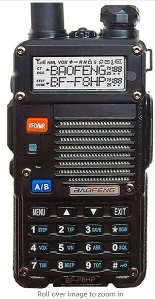 Baofeng   Portable Two Way Radio   VHF UHF Ultra Compact Dual Band Transducer with Wide Band Coverage