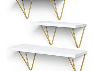 AMADA Homefurnishing Floating Shelf Model AMFS12 Set Of 3
