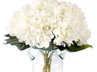 Jim s Cabin Pack of 3 Pcs Artificial Hydrangea Silk Flowers Bouquet Faux Hydrangea Stems for Wedding Centerpieces Home Decor  White