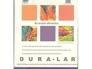 Grafix Clear 0 005 Dura lar Film  19 Inch by 24 Inch  25 Sheets