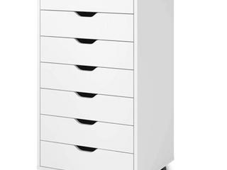 Devaise   7 Drawer Storage Cabinet   White