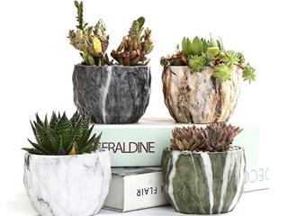 SUN E Flower Pot Modern Style Marble Set Of 4