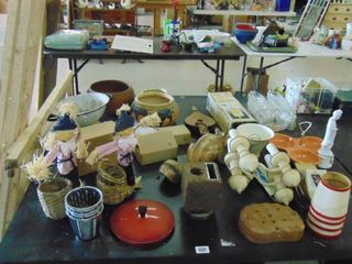 lot of assorted kitchen ware and nik naks