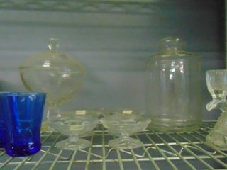 lot of assorted glass ware