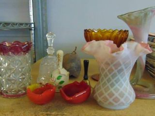 Assorted vases  bells and ashtrays