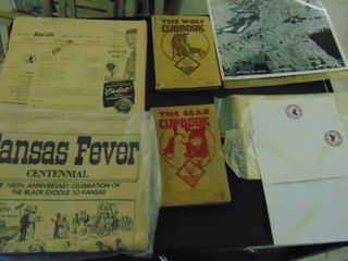 Vintage books  papers and old aerial views