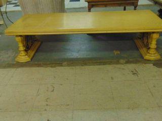 Blonde wood coffee table