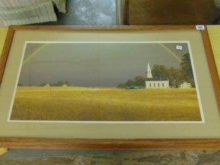 landscape  matted picture