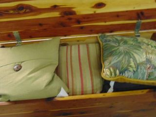 Cedar hope chest with contents
