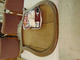 Old wooden mirror frame  bag of rags