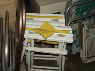 lot of folding chairs   directors   lawn   hard