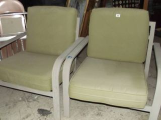 metal padded patio chairs