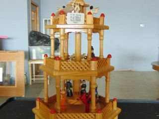 3 tiered wooden advent ornament