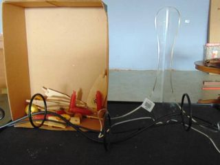 lot of various  box of paddles and candles for advent ornament and picture stands