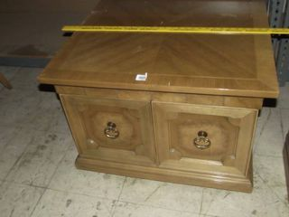 wood end table w doors
