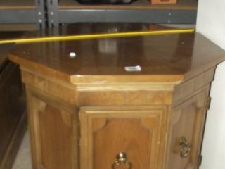 octagon wood end table